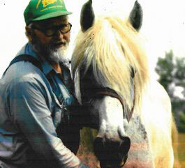 Harley Boone with his horse