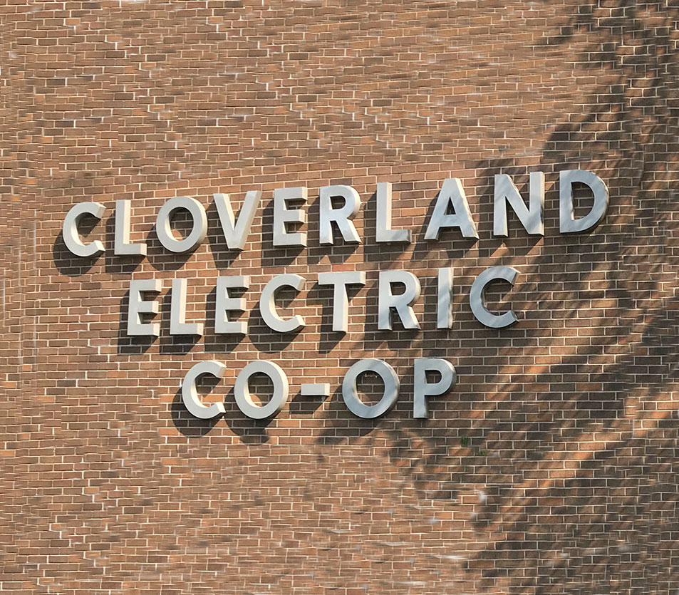 Cloverland Electric Co-op sign
