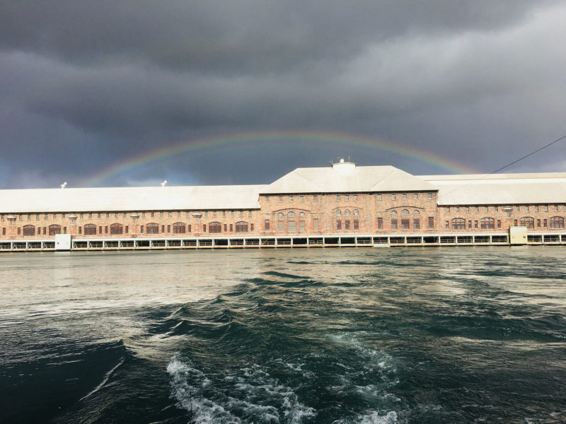 Double rainbow over the hydroplant