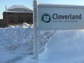 Cloverland Electric Cooperative Hydro plant in winter